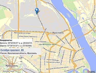 Карта проезда к залу